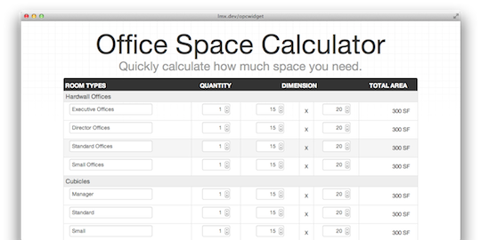 office space calculator