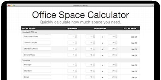 office space calculator
